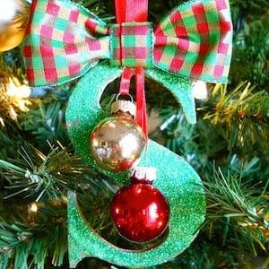 Glitter Monogrammed DIY Christmas Ornaments