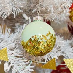 Dipped Glitter Ornaments