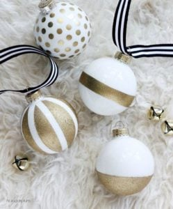 Kade Spade Inspired Christmas Ornaments