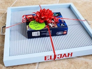 DIY Lego Tray Christmas gift
