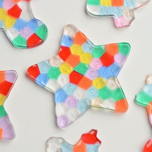 Melted Bead Christmas Ornaments