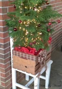 outdoor crate wood crate christmas