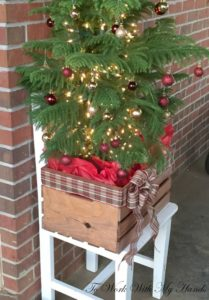 outdoor crate wood crate christmas - Wooden Outdoor Christmas Decorations