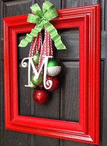Picture Frame Christmas Door Hanger
