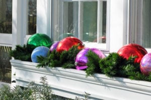 frugal outdoor christmas decorations outdoor windowbox - Window Box Christmas Decorations