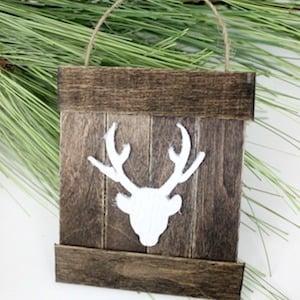 Mini Deer Wood Pallet Ornament
