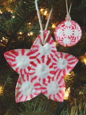 Melted Peppermint Christmas Ornament