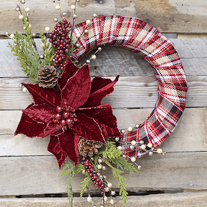 diy christmas wreath foam wreath decorative ribbon christmas floral sprays large poinsettia floral pins