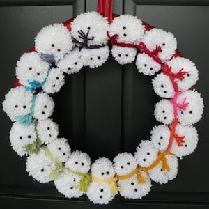 Snowman Pom Wreath