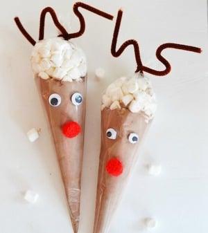 Reindeer Hot Cocoa Cones