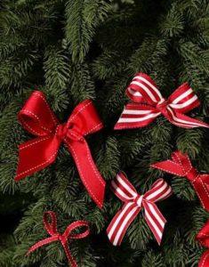 Christmas Ribbon Ornaments