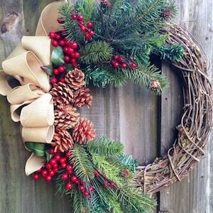 Rustic Christmas Wreaths To Make.100 Best Diy Christmas Wreaths Prudent Penny Pincher