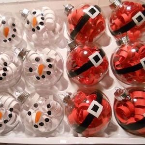 Santa and Snowmen Ornaments