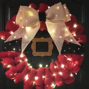 Burlap Santa Wreath