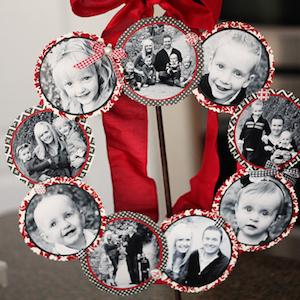 Family Photo Wreath for Christmas