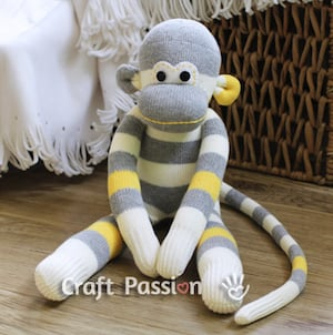 DIY Sock Monkey Gift