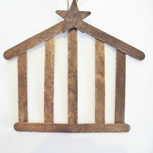 DIY Wood Stable Ornament