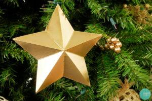 DIY Cardboard Star Ornaments