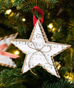 Cardboard Star Christmas Ornament