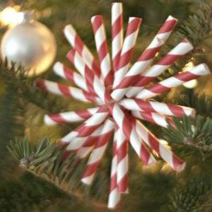 DIY Paper Straw Christmas Ornaments