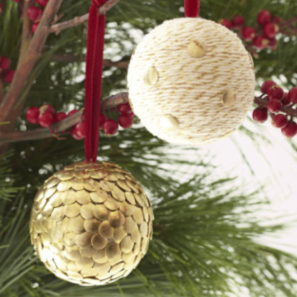 Baker's Twine and Tack Christmas Ornaments