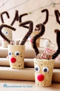 Wine Corn Reindeer Christmas Ornament