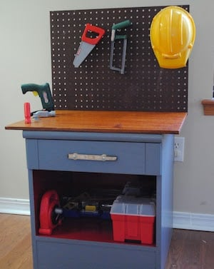 DIY Kid Workbench for boys