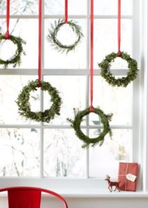 Candy Canes Hanging from Window