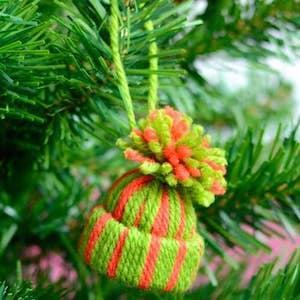 Mini Yarn Hats Christmas Ornament
