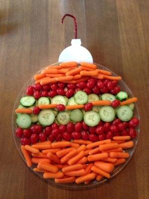 christmas ornament veggie platter source unknown