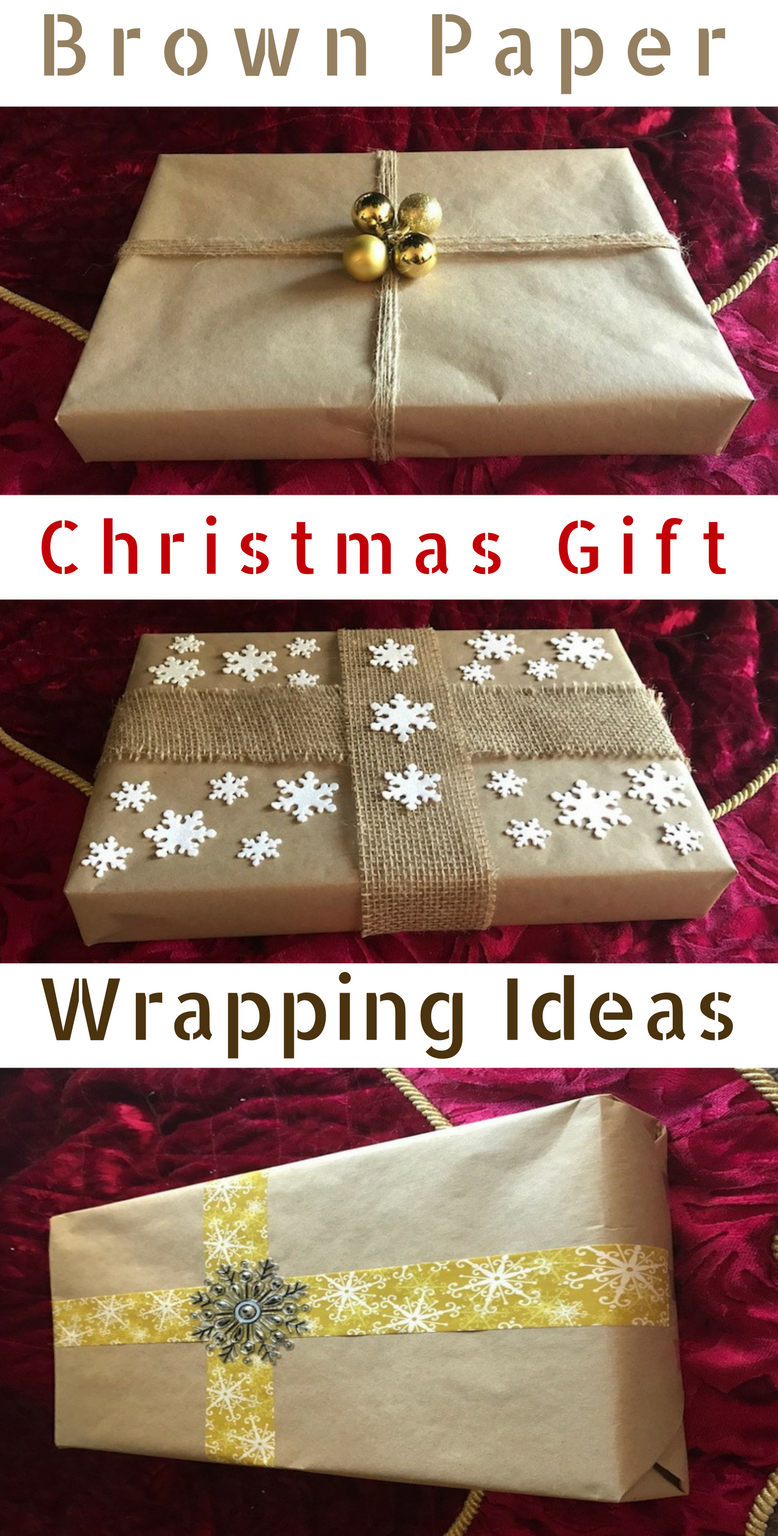 Brown Paper Christmas Gift Wrapping Ideas - Prudent Penny Pincher