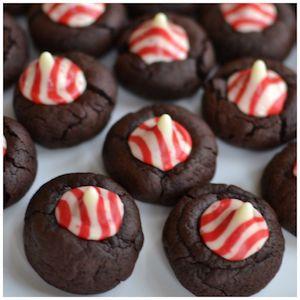 Peppermint Chocolate Thumbprint