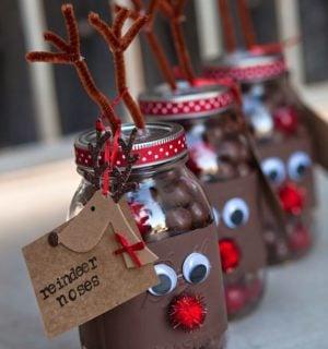 Reindeer Mason Jar Treats