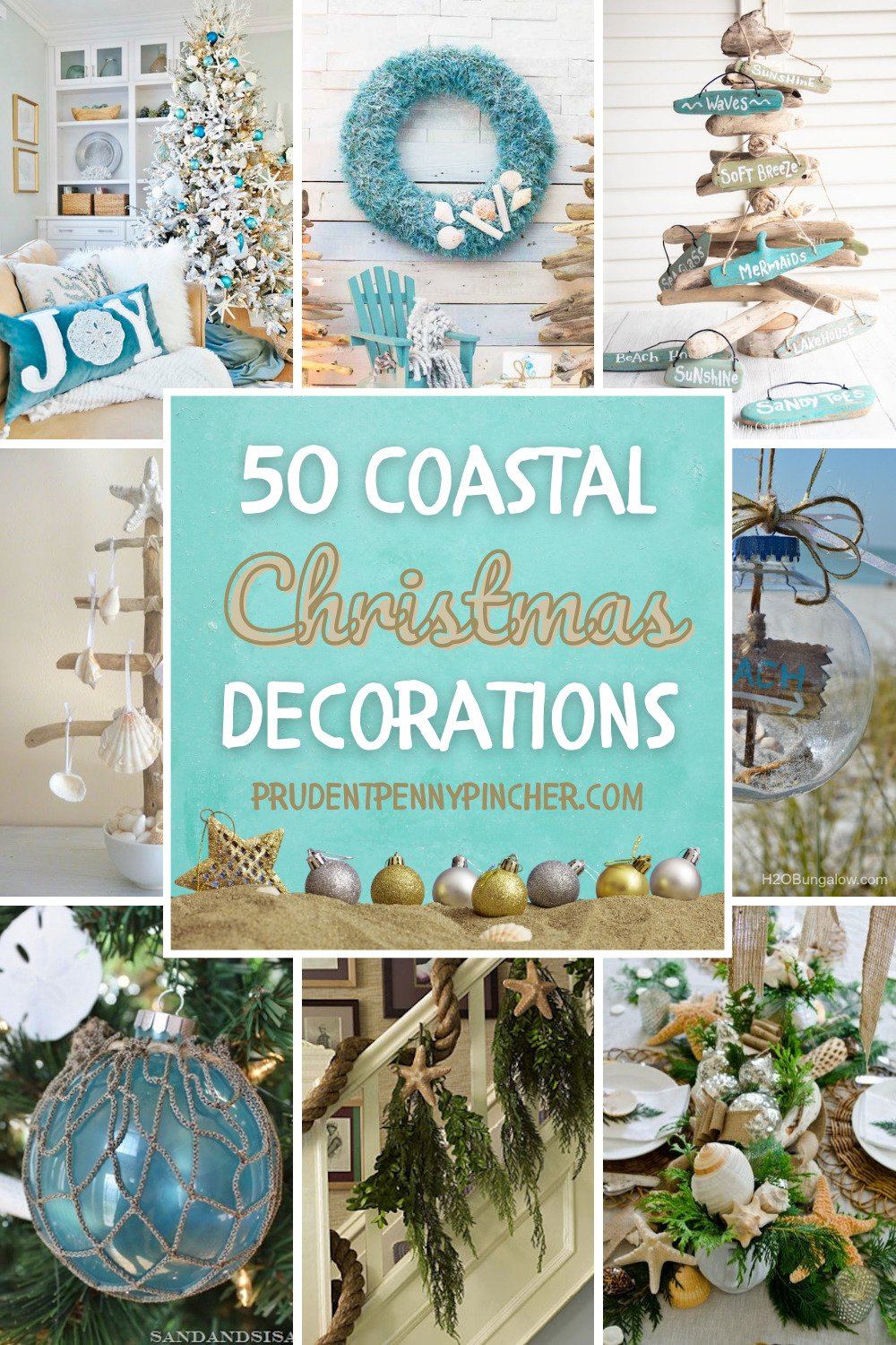 50 Diy Coastal Christmas Decorations Prudent Penny Pincher