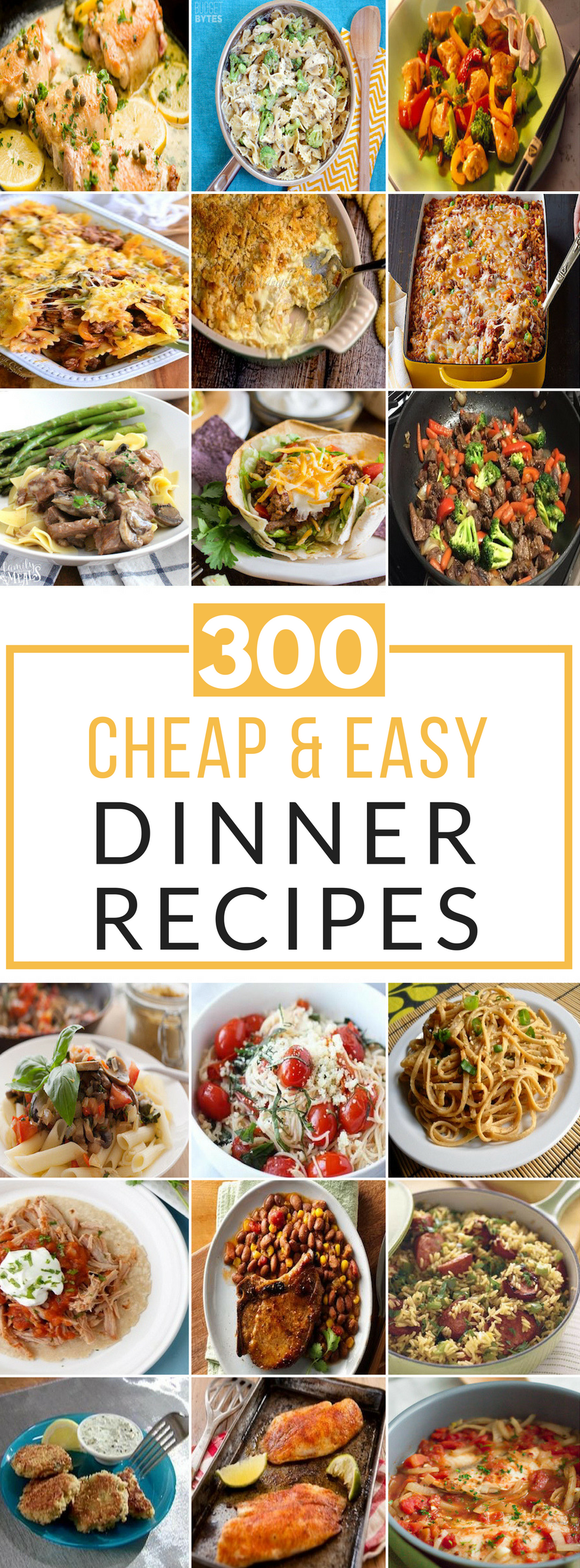cheap and easy recipes for dinner