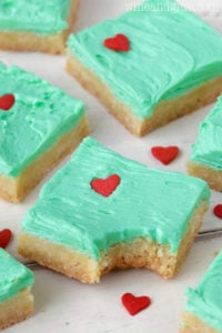 Grinch Cookie Bars Christmas Party dessert