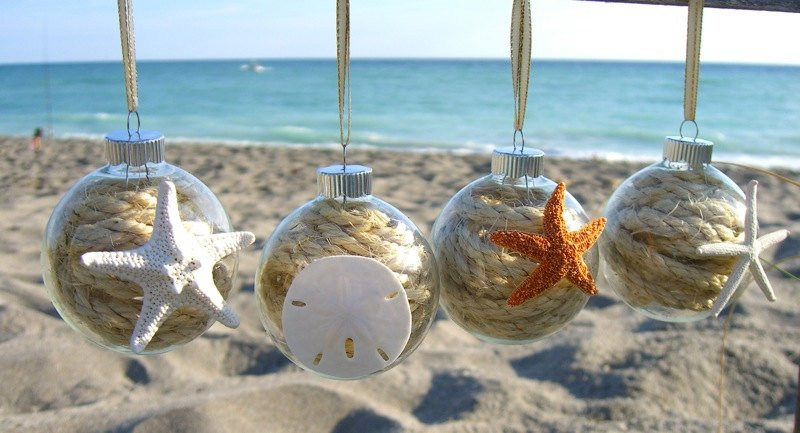 Christmas Decorations For The Beach House : Cheap easy diy coastal christmas decorations