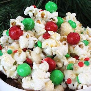 Santa Crunch Popcorn Christmas party snack