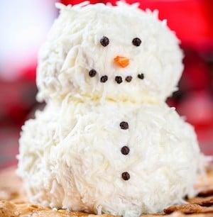 Ranch Snowman Cheeseball Christmas Party appetizer
