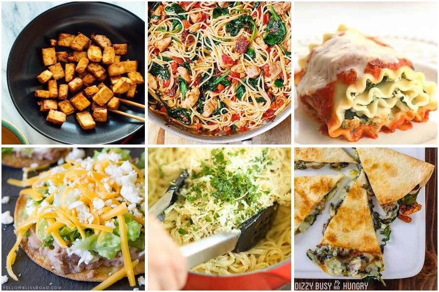meatless and vegetariandinner recipes