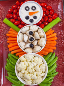 Vegetable Tray Snowman