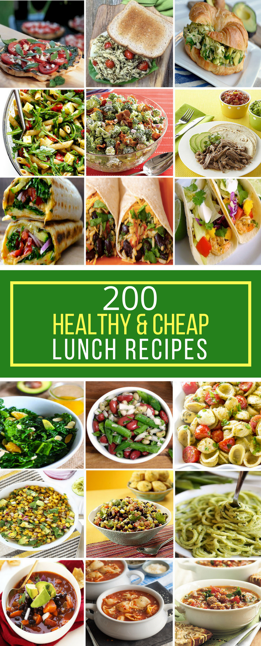 200 healthy & cheap lunch recipes - prudent penny pincher