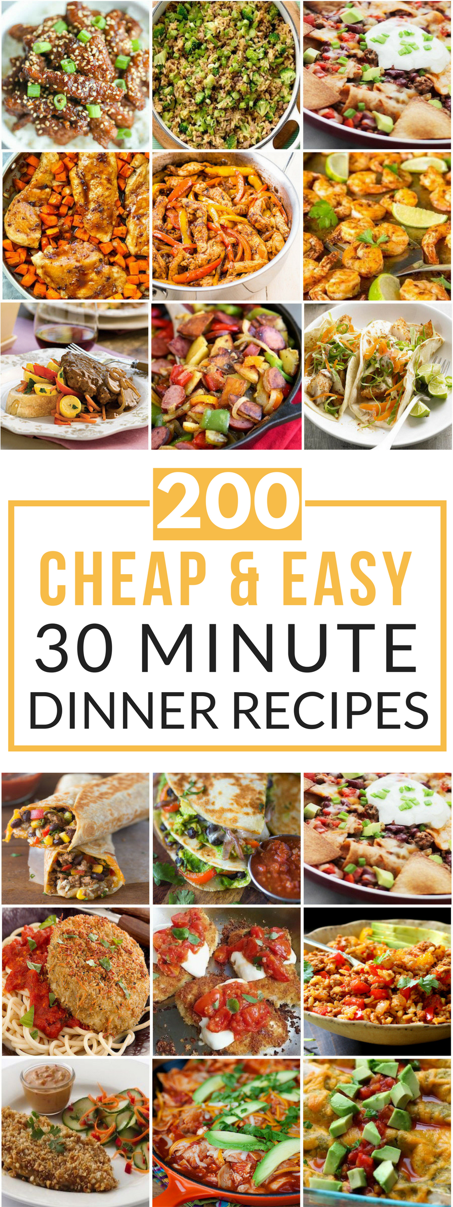 200 cheap easy 30 minute meals prudent penny pincher for Easy to cook dinner recipes for two