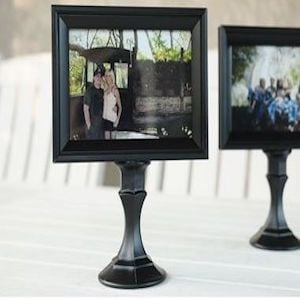 Dollar Store Picture Frame Frames Spray Paint Glass Taper Candleholder I Cant Find The Original Source With A Tutorial But Its Fairly