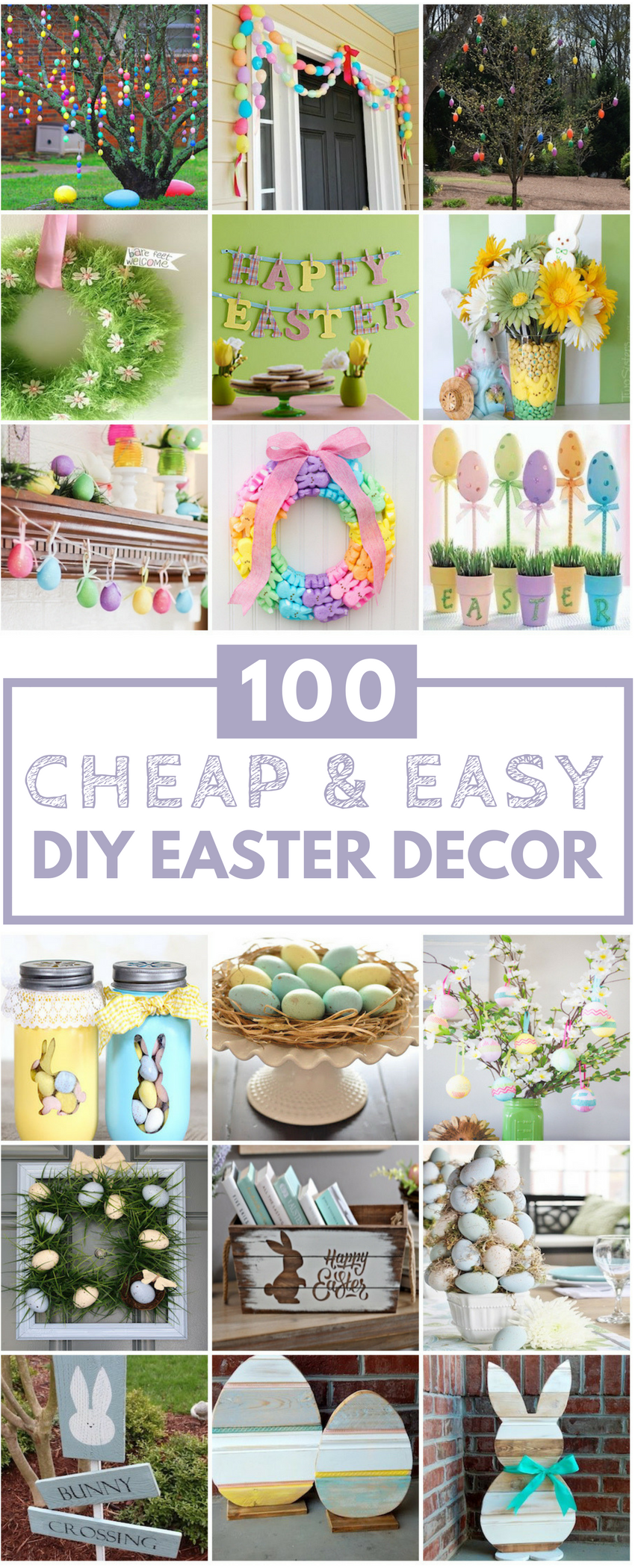 100 cheap easy easter diy decorations prudent penny for Diy easter decorations for the home