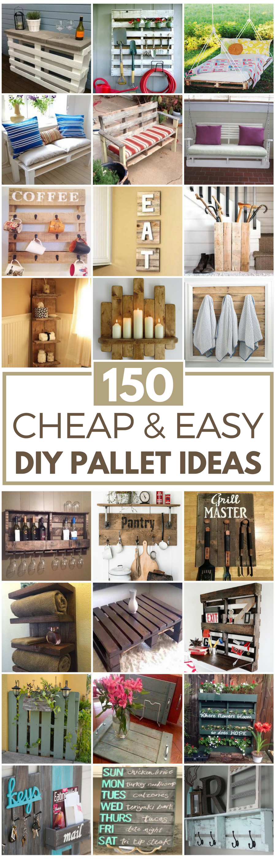 150 Cheap Easy Pallet Projects Prudent Penny Pincher