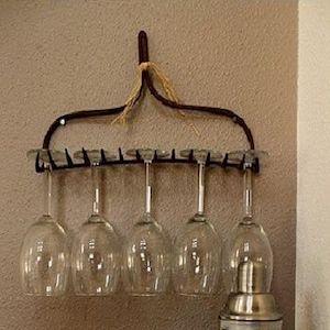 Rake Head Wine Rack