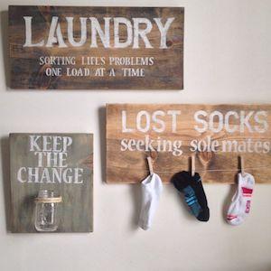 Laundry Farmhouse Wall Decor