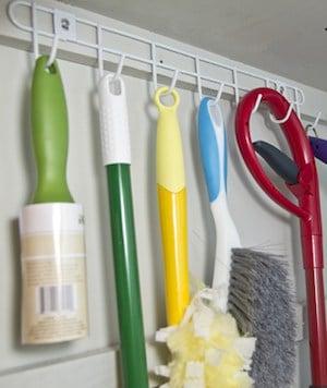 hanging hook Broom and Mop Organizer