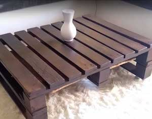pallet coffee table sandpaper glaze caster wheels carriage boltswood bolts - Wood Pallet Projects